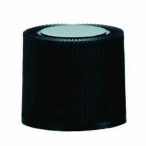 Screw Caps 16mm Polypropylene Rubber Liner Black Color case 400