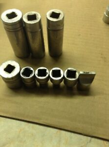 Snap on 1 2 Drive 12 Point Sockets Lot Of 9 Assorted