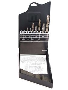 10 pc Left Hand Drill Bit Easy Out Extractor Set Made In Usa spbrsq2