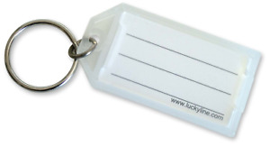 Lucky Line Key Tag With Flap And Split Ring Clear 100 Per Display Box 6050010
