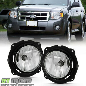 2007 2012 Ford Escape Bumper Fog Lights Front Driving Lamps W switch Left right