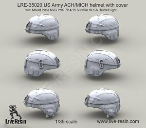 Live Resin 35020 135 US Army ACHMICH Helmet with Cover (2)