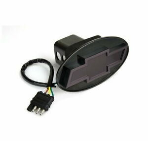 Lighted Led Hitch Cover Chevy Bow tie Black Finish New In Package