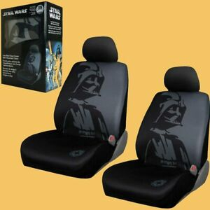 Disney Star Wars Darth Vader Car Truck 2 Front Seat Covers With Headrest Covers