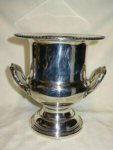 Vintage Silver Plated Large 10 Tall Wine Champagne Ice Bucket