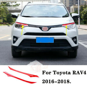 Fit For Toyota Rav4 2016 2018 Red Pvc Brow Truck Parts Front Head Light Cover