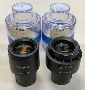 A Pair Of Zeiss Pl Plan 10x 18 Microscope Eyepieces 30mm Part 444132