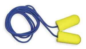 3m 312 1223 Taperfit Corded Ear Plugs 32db Rated Tapered Shape Pk 200