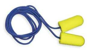 3m 12017 Taperfit Corded Ear Plugs 32db Rated Tapered Shape Pk 200
