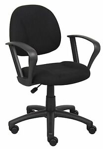 Boss Office Products Black Deluxe Posture Chair With Loop Arms B317 bk New
