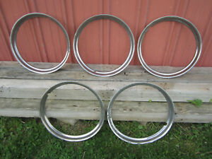16 Chrome Narrow Smooth Beauty Rings Ford Lincoln Mercury Hot Rat Rod Vintage