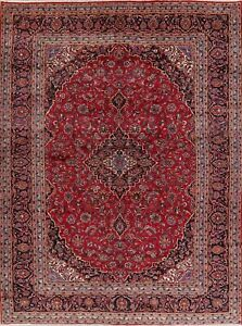 Vintage Traditional Floral Red Oriental Area Rug Hand Knotted Large Wool 10x13