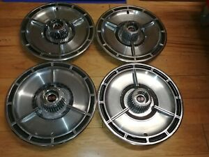 14 1964 Chevy Impala Ss Oem Spinner Hubcaps Wheelcovers 4 Used Fits Chevelle