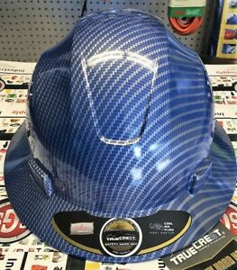 Hydro Dipped Blue Red Or Blackfull Brim Hard Hat With Fas trac Suspension