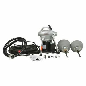 Ridgid 59000 Sectional Drain Cleaning Machine 1 6 Hp