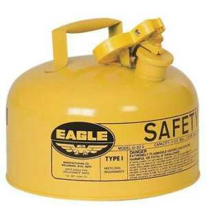 Eagle Ui20sy 2 Gal Yellow Galvanized Steel Type I Safety Can For Diesel