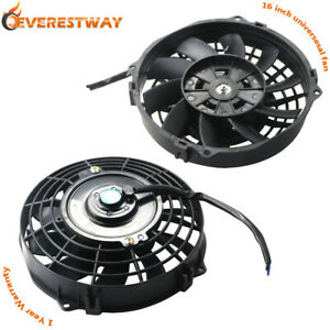2x 7 Universal Electric Radiator Cooling Fan 12v With Mount Kit 10 Blades Black