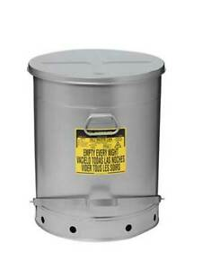 Justrite 09708 Oily Waste Can 21 Gal steel red
