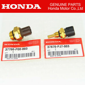 Set Of 2 Cooling Fan Switch Coolant Sensor Fit For Honda Odyssey Accord Pilot