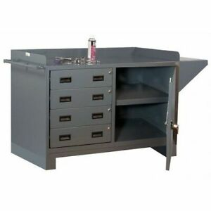 Durham Mfg 3404 95 Work Table Cabinet 4 Drawer vice Support