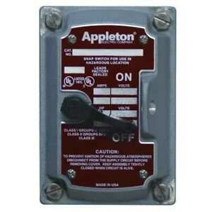 Appleton Electric Edsf12 Switch Cover 1 pole Or 2 pole 1gang a