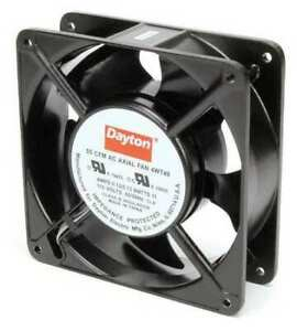 Dayton 4wt49 Axial Fan Square 115vac 1 Phase 55 Cfm 4 11 16 W
