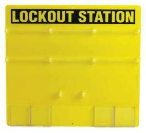 Brady 50992 Lockout Station unfilled 21 1 2 In H