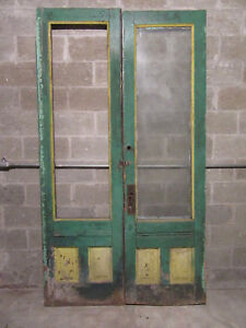 Antique Double Entrance French Doors 53 X 94 Rough Architectural Salvage