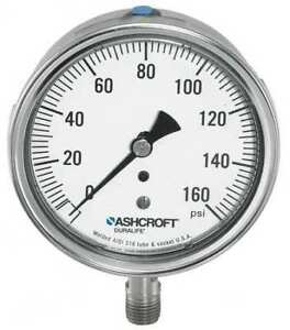 Ashcroft 351009swl02l2000 Gauge pressure 0 To 2000 Psi 3 1 2 In