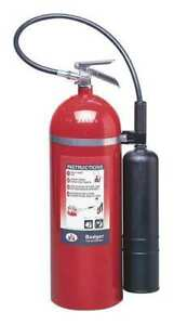 Badger B20v Fire Extinguisher 10b c Carbon Dioxide 20 Lb