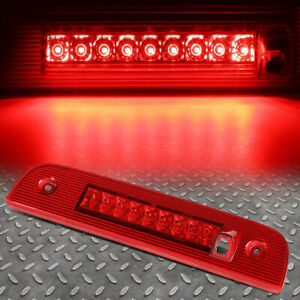 For 07 12 Dodge Nitro Full Led 3rd Third Tail Brake Light Stop Lamp Bar Red Lens