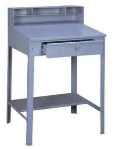Tennsco Sr 57 Med Gray Shop Desk 34 1 2 X 53 X 29in medium Gray