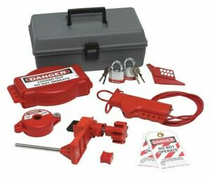 Brady 99324 Portable Lockout Kit filled valve 10