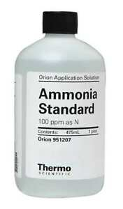 Thermo Scientific 951207 Ammonia Standard 100ppm As N 1 Pint