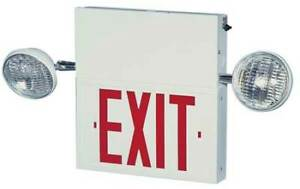 Big Beam 2com1rww Big Beam Steel Led Exit Sign With Emergency Lights
