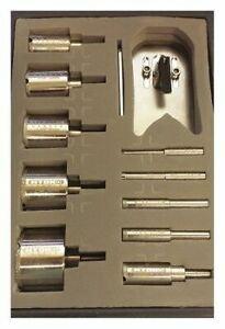 Hydro handle Hhblkit Drill Bit Set polished 0 314 In