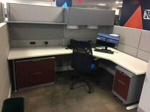 Used Office Cubicles Teknion Leverage 8x6 Cubicles