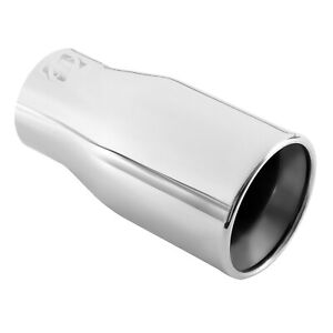 Double Wall Car Muffler Tip Exhaust Pipe Stainless Steel Chrome Fit 2 2 5 Inch