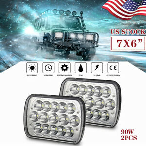 7x6 5x7 6000k Led Headlights Assembly Projector Hi lo Sealed Beam Fit Ford 71u
