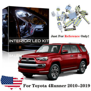 22x White Led Interior Exterior Lights Kit For 2010 2019 Toyota 4runner tool