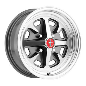 Legendary Wheel Co Lw40 50644b Mustang Magnum 400 Alloy Wheel 15 X6 Charcoal M