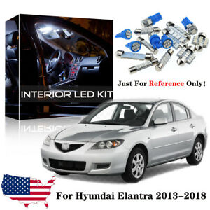 8x Blue Led Interior Light Package Kit For 2004 2005 2006 2007 2008 2009 Mazda 3