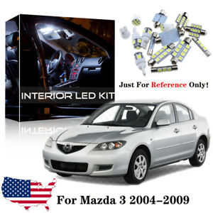 8x White Led Interior Lights Package Kit For 2004 2006 2007 2008 2009 Mazda 3