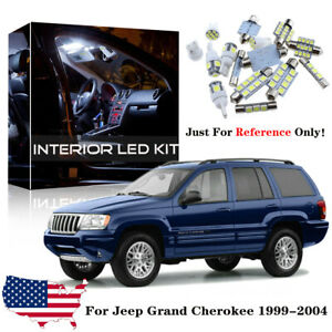 18x White Interior Led Lights Package Kit For 1999 2004 Jeep Grand Cherokee Wj