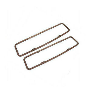 Small Block Chevy 330 Thick Cork Steel Core Valve Cover Gaskets 327 350 383