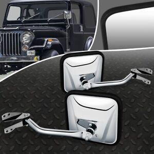 For 60 75 Jeep Cj6 Cj3 Cj5 Pair Oe Style Manual Adjustment Side View Door Mirror