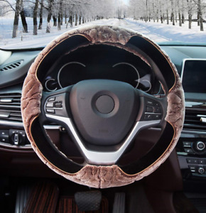 Super Accessories Auto Fluffy Steering Wheel Cover Fuzzy Car Steering Wheel With