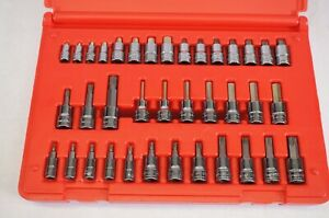 New Snap on 1 4 3 8 Drive 37pc Torx Hex Bit Socket Set Metric 237hextorxst