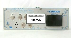 Condor Hdd24 7 2 a Dc Power Supply 24v Power one Working Spare