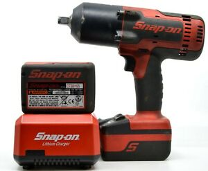 Snap On Ct8850 Cordless 1 2 18v Impact Wrench With 2 Batteries